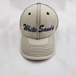 White Sands Flag Brim Hat Tan